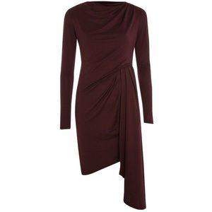 NWT! Top shop Auburn asymmetrical drape dress